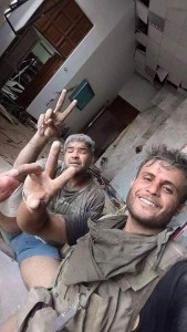 Iraqi Soldiers after a suicide attack in Ramadi 1
