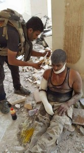 Iraqi Soldiers after a suicide attack in Ramadi 2