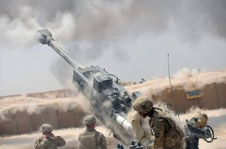 US Artillery Supporting Iraqi Forces (CJTFOIR)